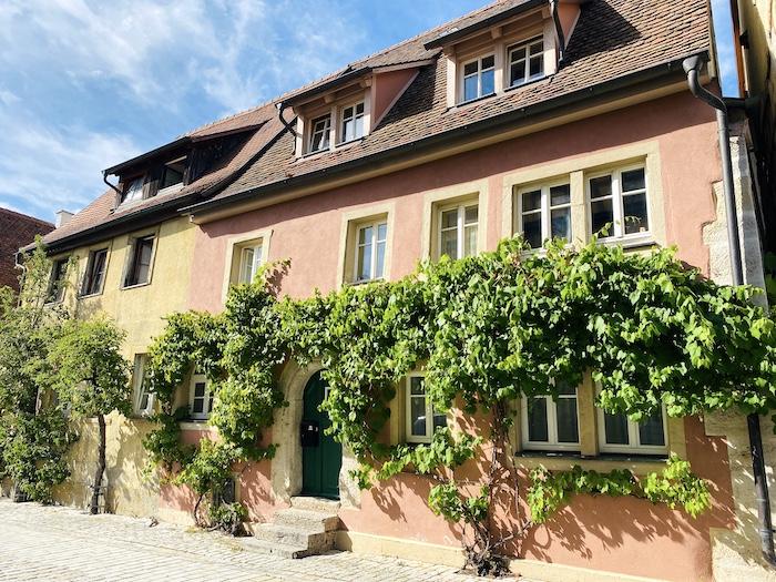 schöne Häuser in Rothenburg ob der Tauber