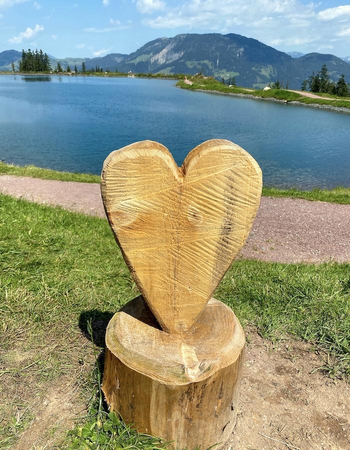 Speichersee Fieberbrunn in Tirol