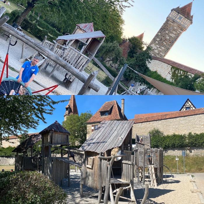 Spielplatz für Kinder in Rothenburg ob der Tauber