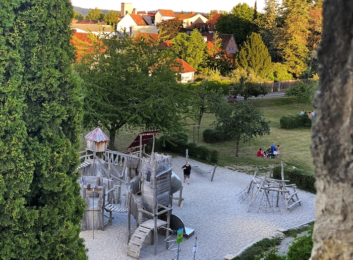 Spielplatz in Rothenburg ob der Tauber