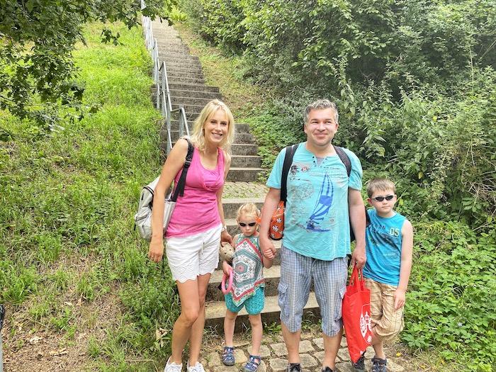 Family Wilde - Treppen runter zum Münstersee