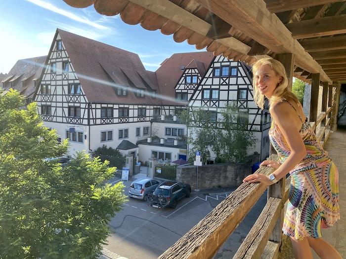 Elischeba auf dem Turmweg in Rothenburg ob der Tauber