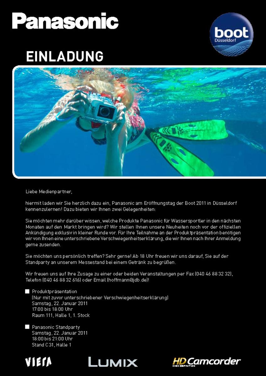 Elischeba Wilde - Unterwassermodel für Panasonic