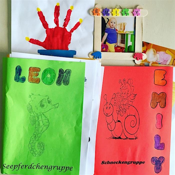 Abschiedsmappen von Leon und Emily