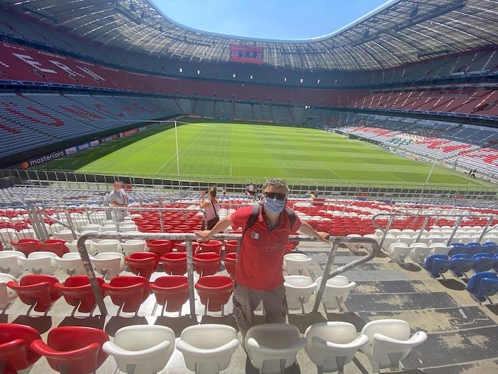 Blick in die Allianz-Arena in München