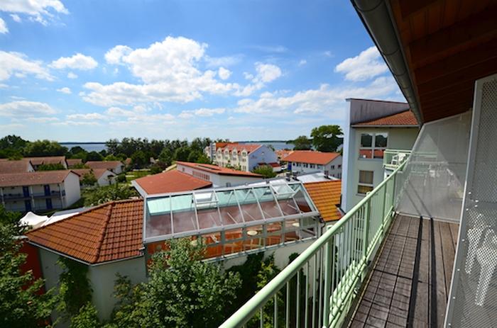 Ausblick vom Balkon - Buntes Haus in Rerik