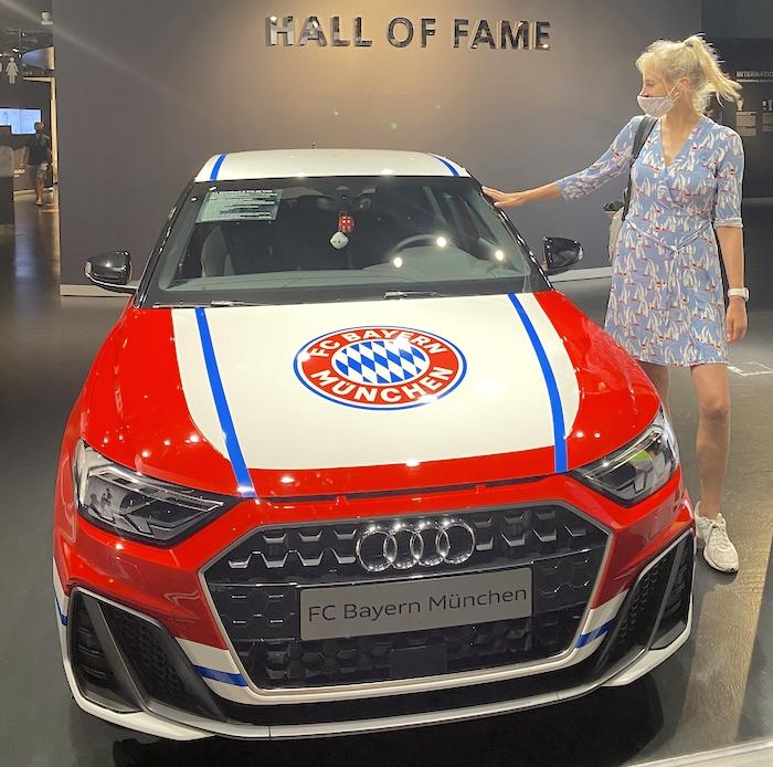 Elischeba in der Hall of Fame im FC Bayern Museum