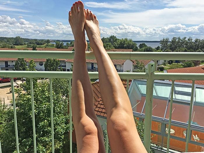Legs am Balkon - Ausblick