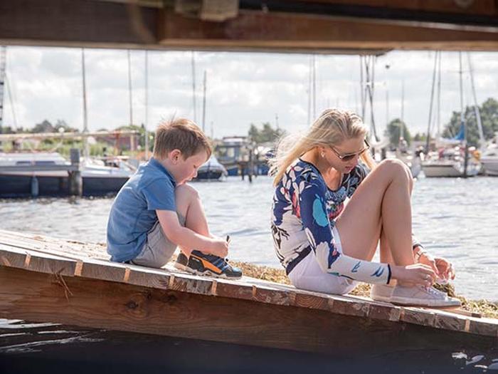 Elischeba und Leon - Salzhaff Hafen in Rerik
