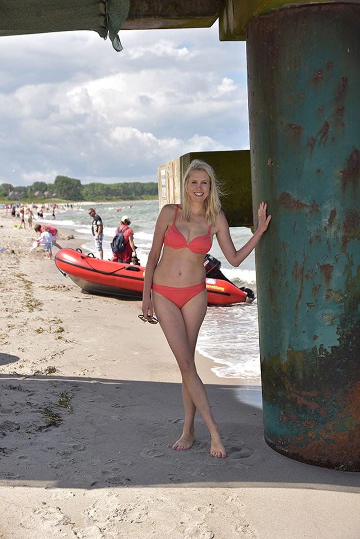 Elischeba Wilde unter der Seebrücke in Rerik