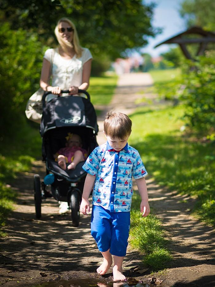 Spaziergang zum Salzhaff - Elischeba Wilde und Kids