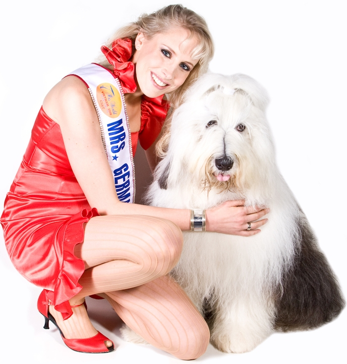 Bobtail mit Mrs Germany Elischeba Wilde