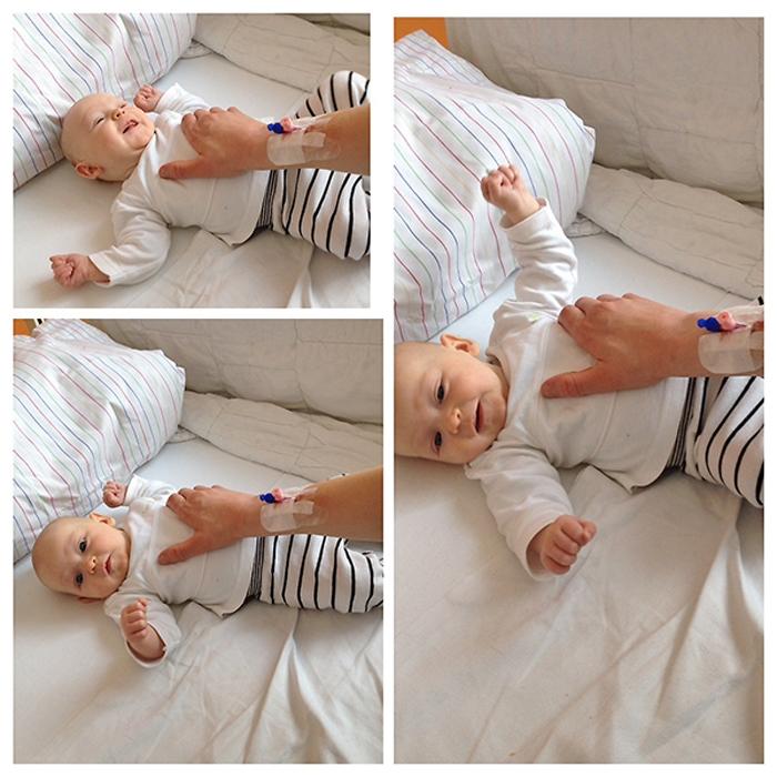 Spielen mit Emily im Krankenhaus - Collage