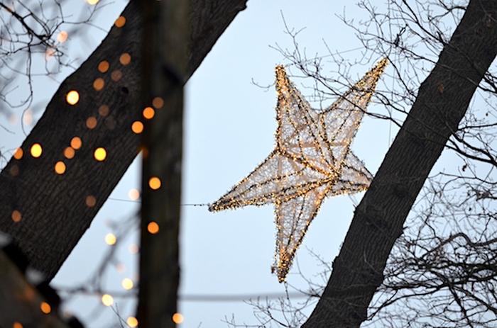 Stern auf dem Waldweihnachtsmarkt in Velen