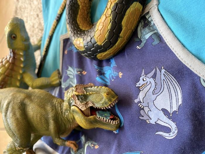 Tipp für Dinokleidung - Drachenmuster