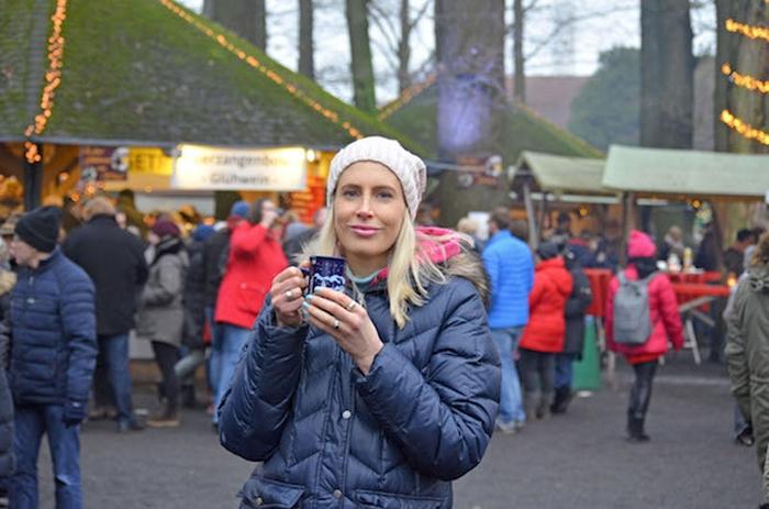 Elischeba auf dem Waldweihnachtsmarkt in Velen im Münsterland