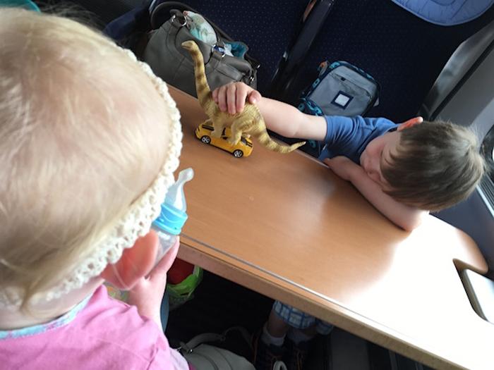 Zugfahrt mit Dinos