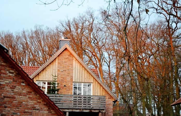 Blick aufs Dach im Familotel Landhaus Averbeck