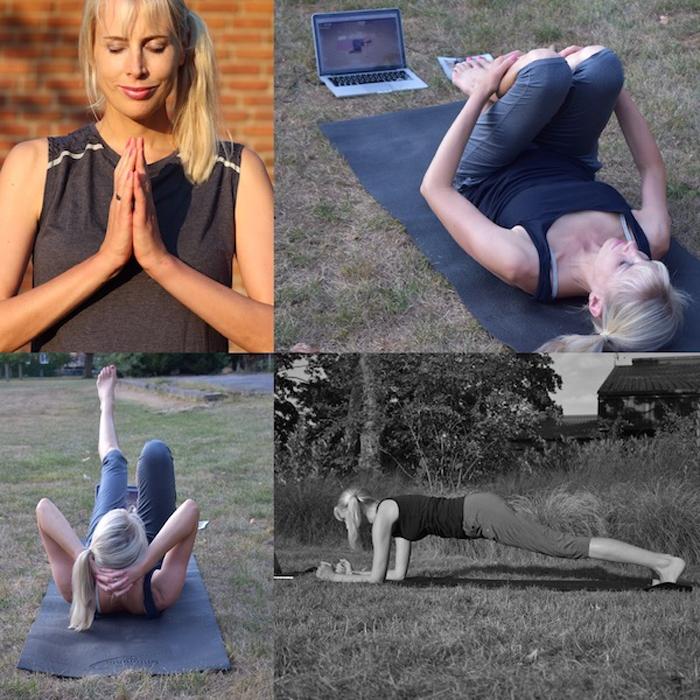 Elischeba Wilde - Fitness auf dem Boden - Collage