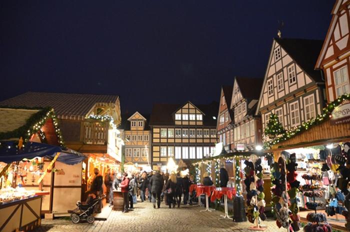 Weihnachsstimmung auf dem Weihnachtsmarkt in Celle