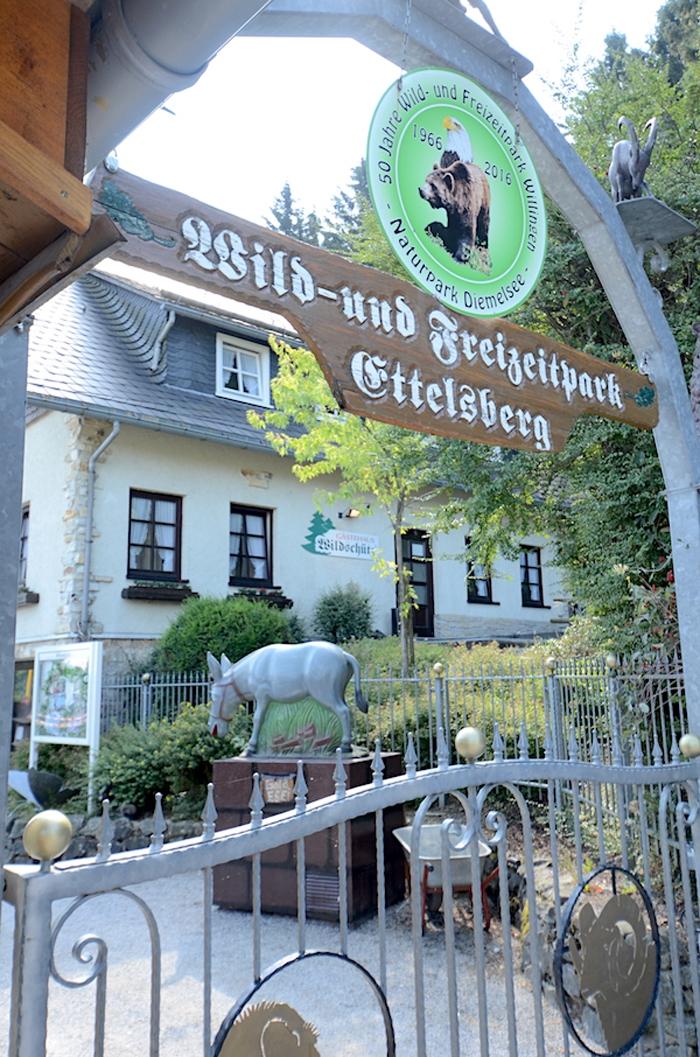 Eingang Wildpark Ettelsberg