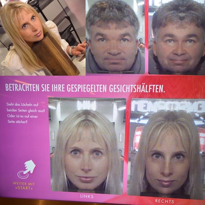 gespiegelte Gesichtshälften - Elischeba und Pierre