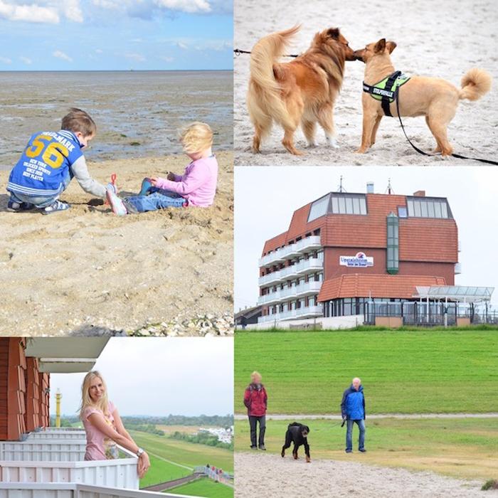 Hunde Hotel - Upstalsboom Hotel am Strand in Schillig - Collage