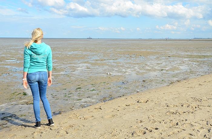 Elischeba am Strand von Schillig