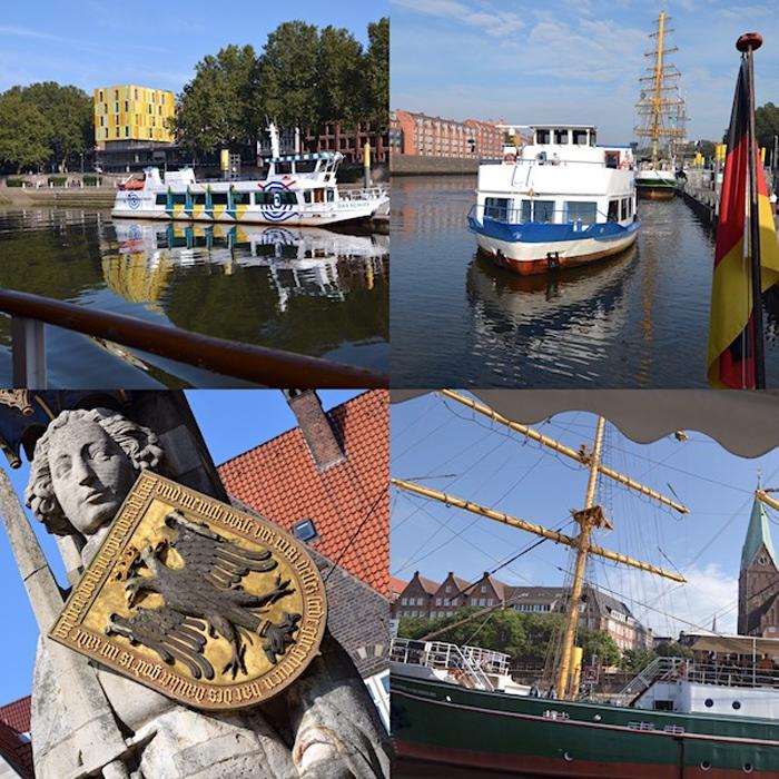 Schlachte Bremen - Collage