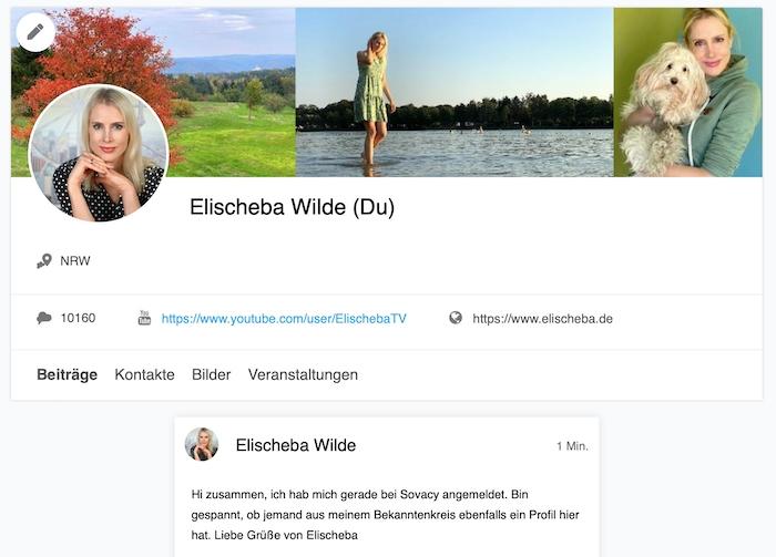 Screenshot von Elischebas Profil bei Sovacy