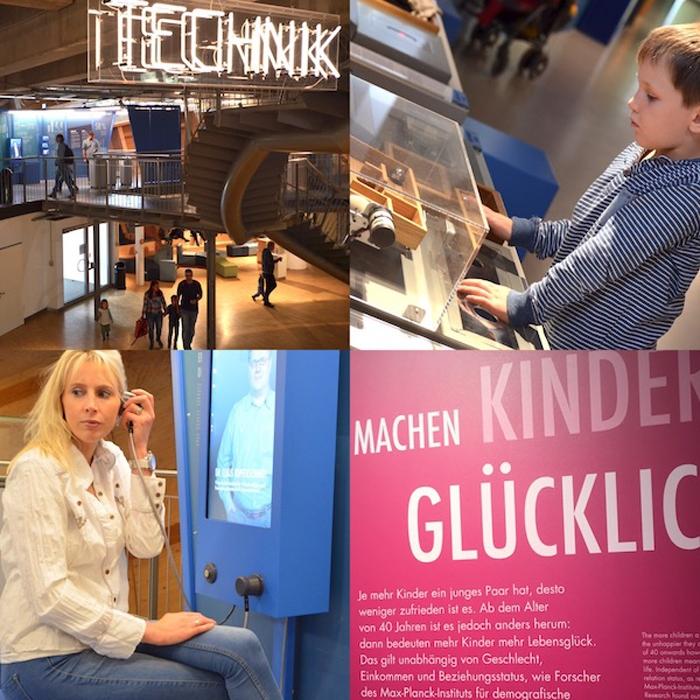 Technik erforschen im Universum Bremen - Collage
