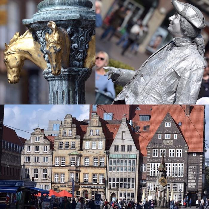 Urlaub in Bremen - historischer Marktplatz - Collage