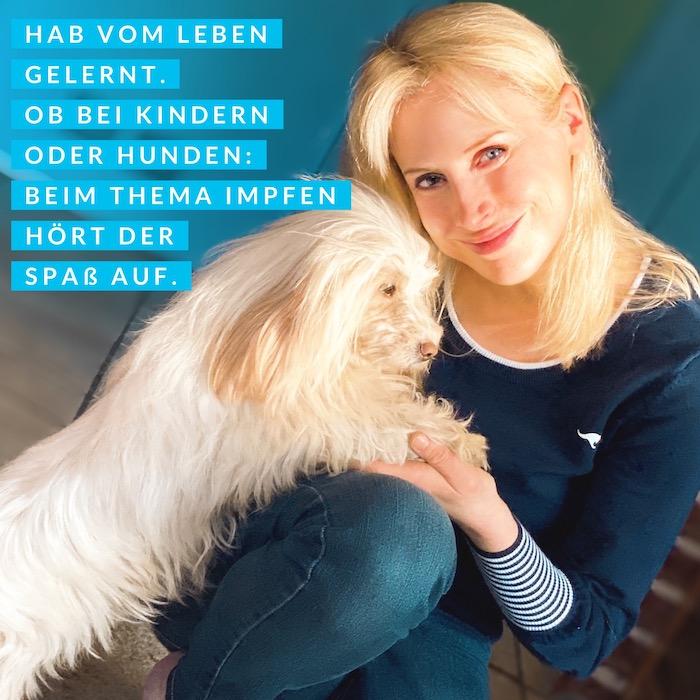 Hunde impfen - Elischeba Wilde mit Hund