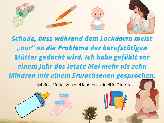 Lockdown - Auswirkungen auf Mütter