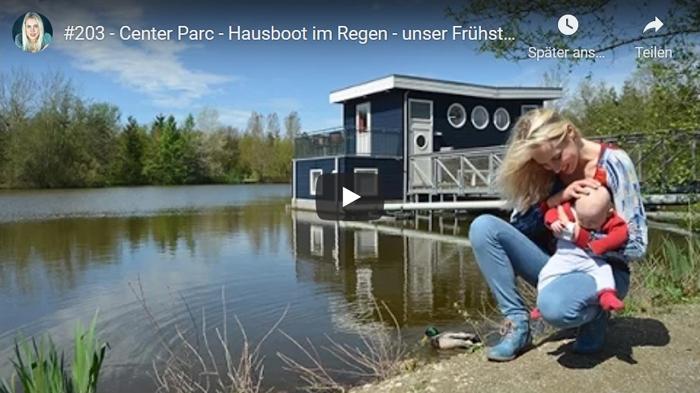 ElischebaTV_203 Center Parc Bispinger Heide - Hausboot im Regen