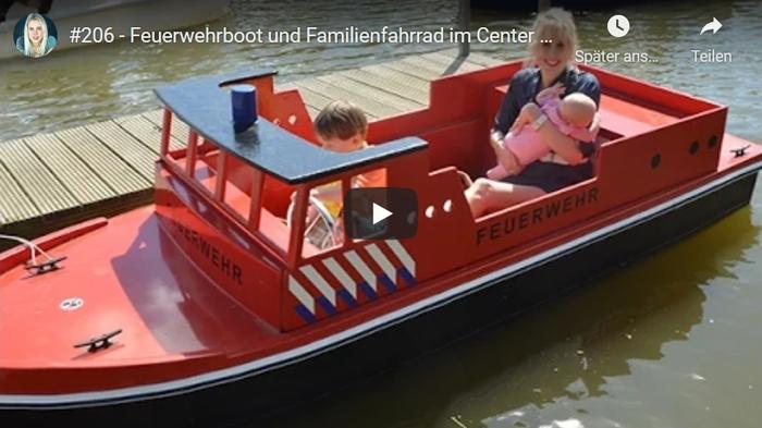ElischebaTV_206 Feuerwehrboot und Familienfahrrad im Center Parc Bispinger Heide