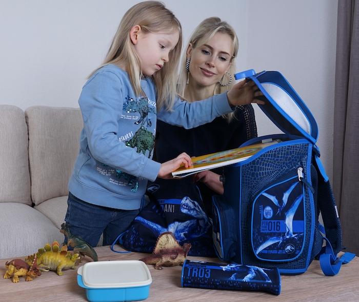 blaue Schultasche für ein Mädchen - Elischeba und Emily