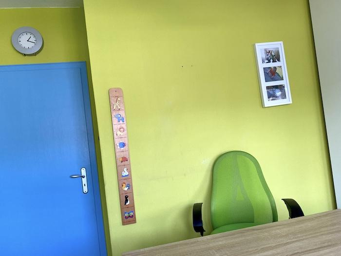 Vorher-Bild vom Homeoffice-Büro