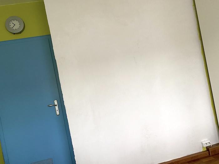 weisse Wand vorbereiten