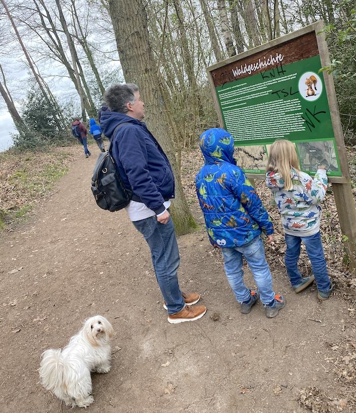 Waldgeschichte - Infotafel im Wald von Reken