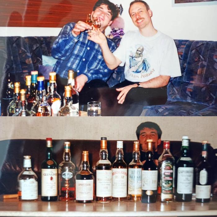 Whisky Verkostung unter Freunden in den 90er Jahren