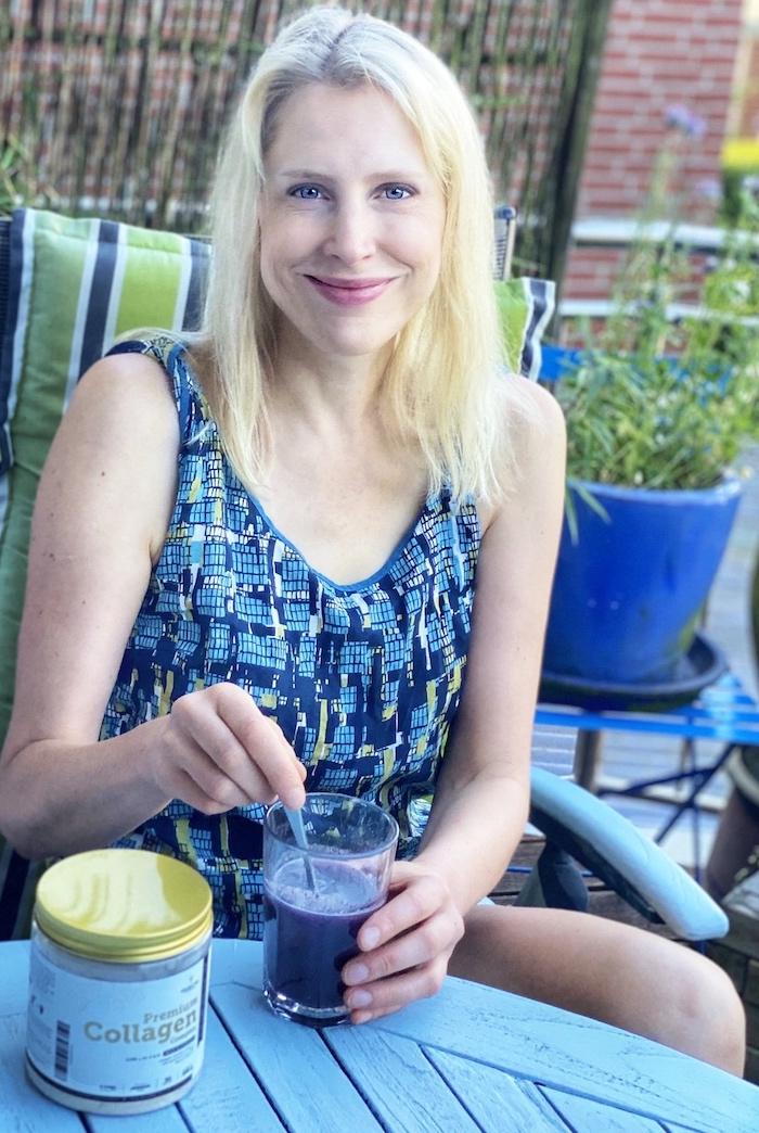 Elischeba präsentiert Kollagen zum Trinken