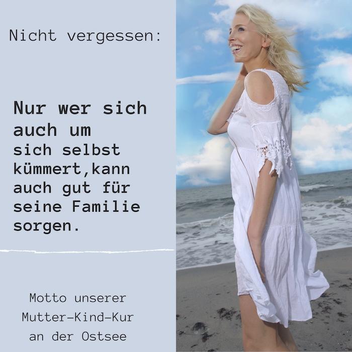 Elischeba Wilde am Ostseestrand - Motto der Mutter-Kind-Kur