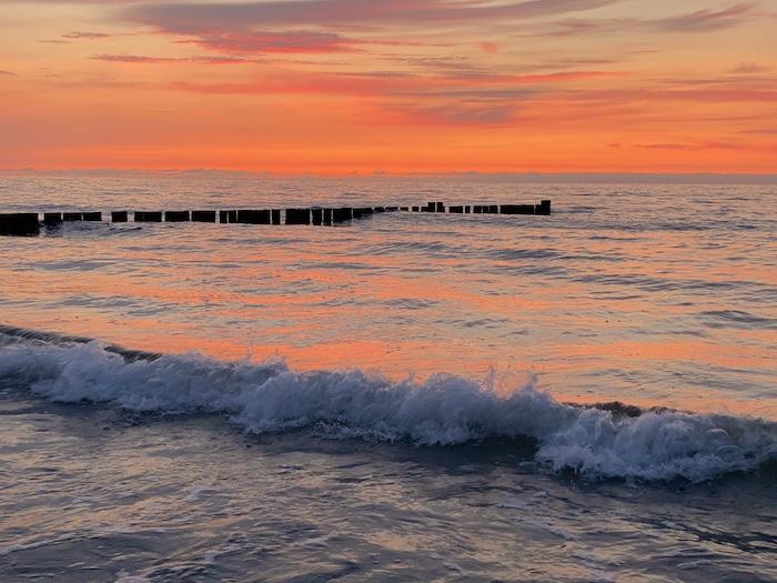 Sonnenuntergang an der Ostsee in Kühlungsborn