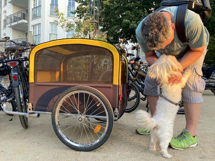 Fahrradanhänger für den Hund im Urlaub