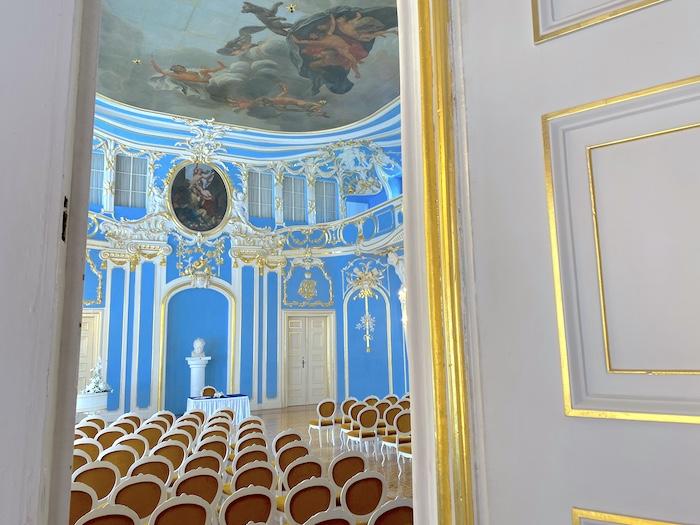 der blaue Saal im Schloss Sondershausen