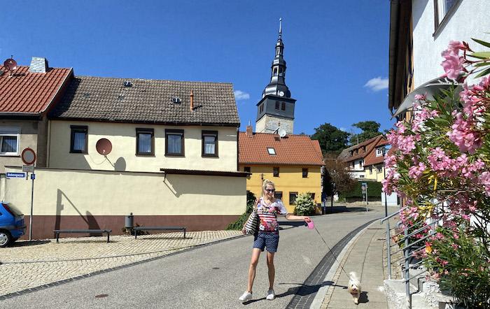 schiefer Turm in Bad Frankenhausen