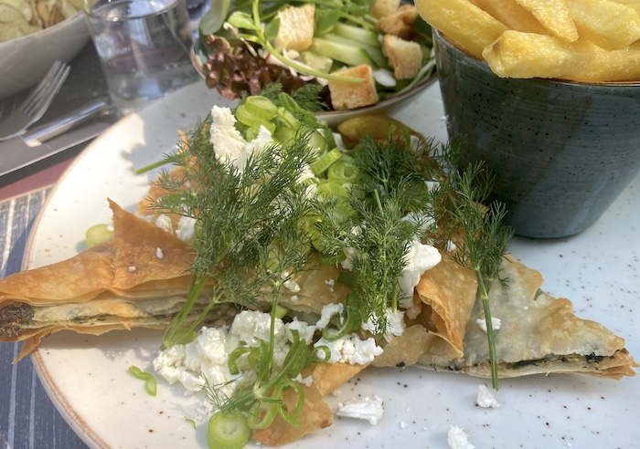 Blätterteig mit Spinatfüllung